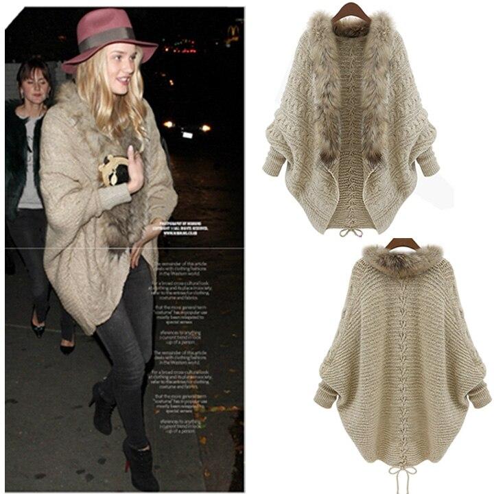 Molto Arrial! Nuova moda 2015 moda delle donne poncho mantella di lana  SC95