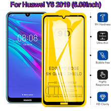9D Full Glue Protective Glass On For Huawei Y6 Pro 2019 Screen Protector Tempered Glass on huawey y6 prime 2019 Full Cover Glass(China)