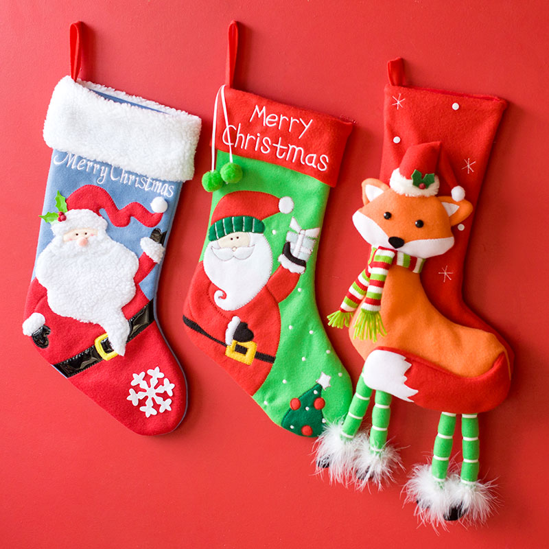 Aliexpress.com  Buy 2015 New Christmas Home Decoration Christmas Stocking Gifts Bag Decorations Reindeer & decorated stocking ideas | My Web Value