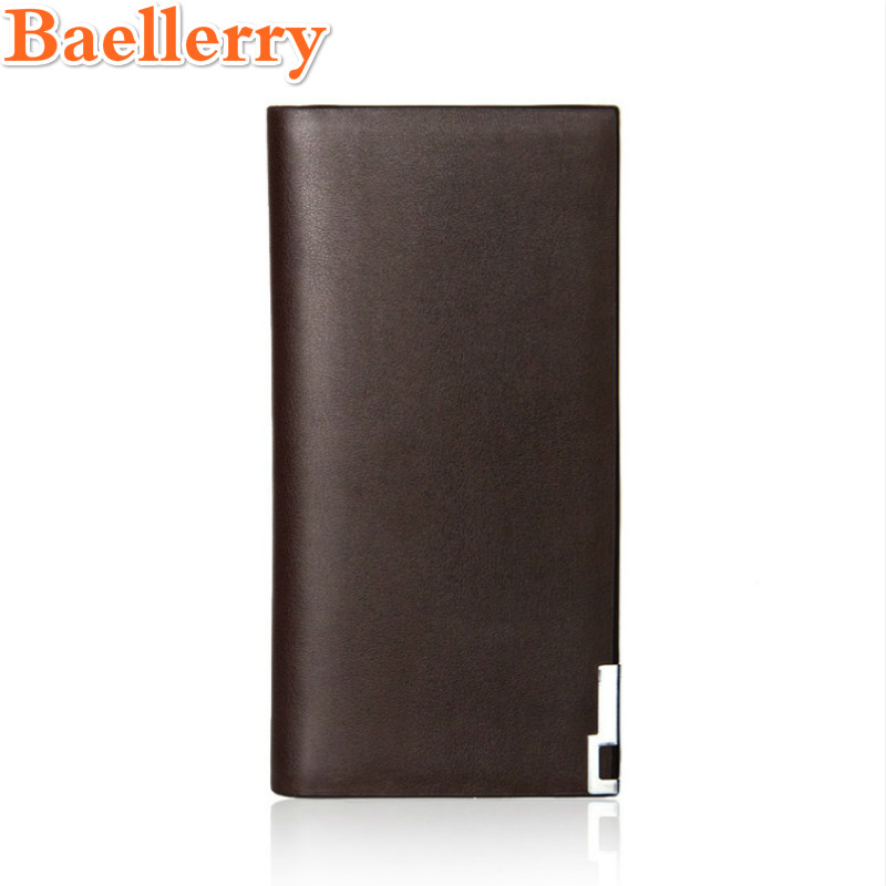 Baellerry Men Long Purse Ultra-thin Fashion Business for Men More Fashionable Wallets Brand Leather Luxury Purse Male Clutch baellerry business black purse soft light pu leather wallets large capity man s luxury brand wallet baellerry hot brand sale