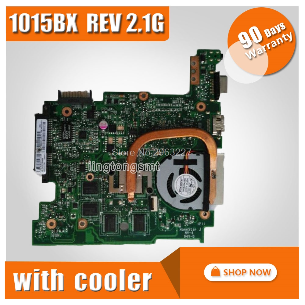 For ASUS Eee PC 1015BX Motherboard REV2.1G Mainboard with cpu 2GB/1GB Memory on board 100% test OK free shipping 1015bx mainboard rev2 1g for asus eee pc 1015bx laptop motherboard 100% tested working fully tested