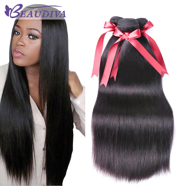 Brazilian Straight Hair Human Hair Bundles 3 Pcs 8 28inch Brazilian Hair Weave Bundles Natural Color Non Remy Hair Extension by Beaudiva