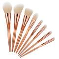 8Pcs Professional Makeup Brushes  Eyebrow Brush Kit Tools Makeup Brushes maquiagem Rose Gold Cosmetics makeup brush Set