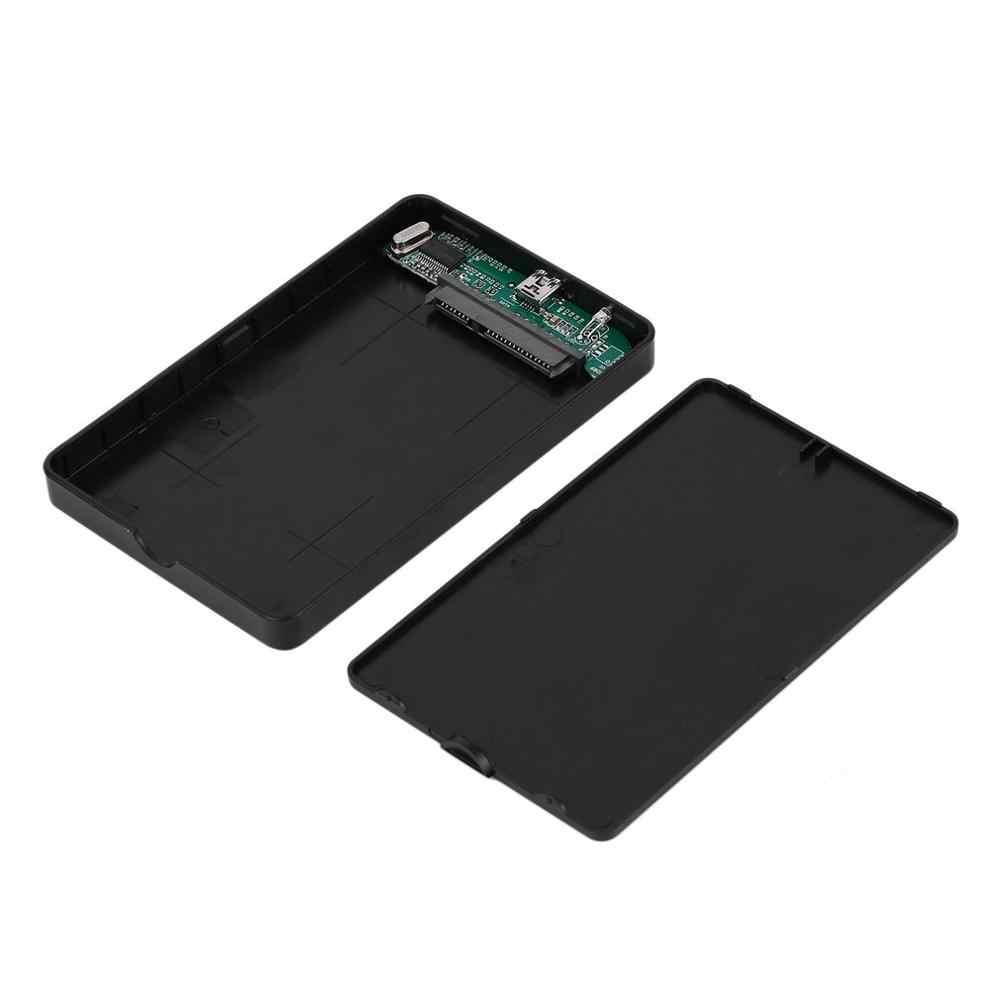 جديد 2.5 بوصة USB HDD حالة Sata إلى USB 2.0 قرص صلب SATA الخارجية ضميمة HDD القرص الصلب مربع مع كابل يو اس بي