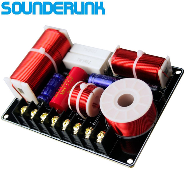 1pc Sounderlink Multi Speaker Hi Fi Audio Frequency Divider 3 Way Crossover 450hz 4700hz