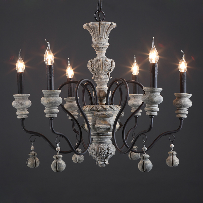 Retro Vintage Industrial Chandelier european style chandeliers american lighting industry Restaurant chandelier  creative lamp
