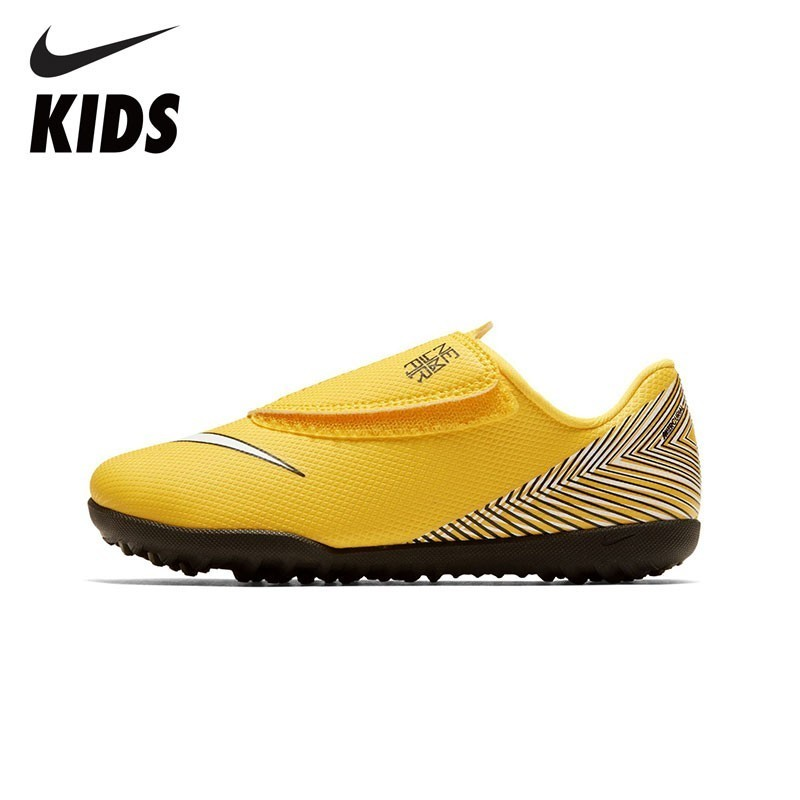 NIKE Kids JR VAPOR 12 CLUB PS (V) NJR TF New Arrival Kids Soccer Shoes Football Sports Sneakers For Kids AO2903 710