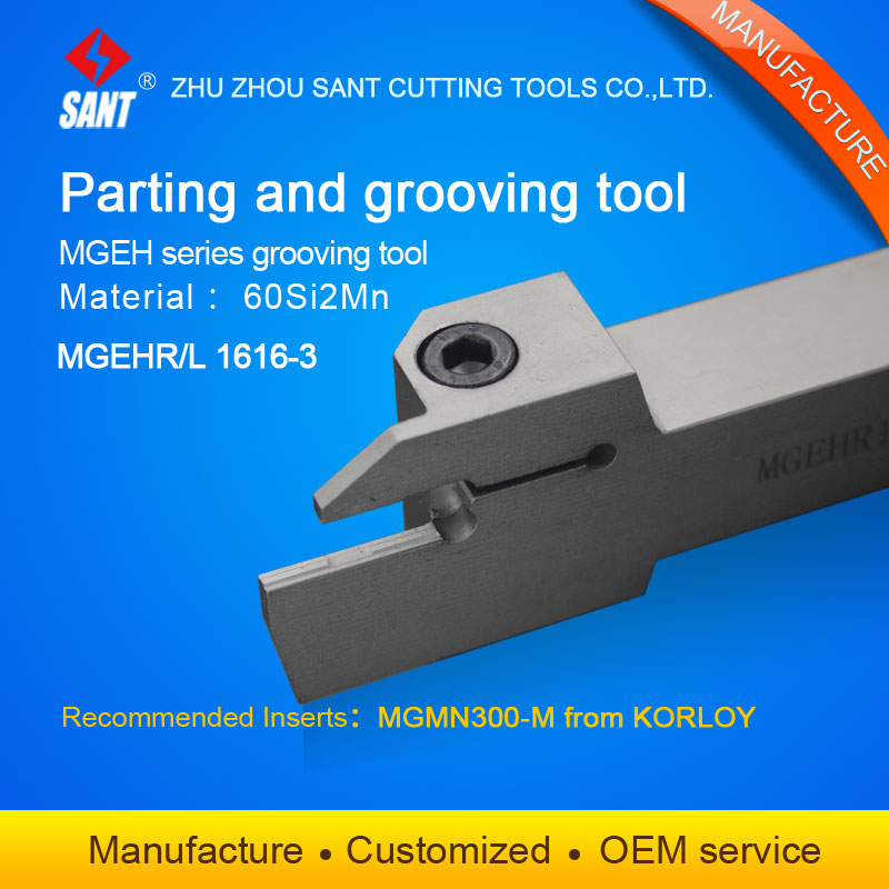 MGEHR1616-3 Lathe Cut Off Grooving Parting Tool Holder For MGMN300 Insert CNC