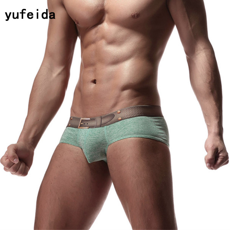 YUFEIDA Men Underwear <font><b>Bikini</b></font> Briefs Mens Slip <font><b>Homme</b></font> <font><b>Sexy</b></font> Panties Men Briefs Underpants Cueca Jockstrap <font><b>Sexy</b></font> Male Gay Underwear image
