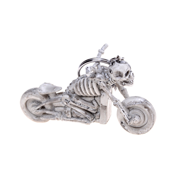 1PCS NEW skull motorcycle toy Gift Skull Keychain Vintage Rubber Devil Death Pirate Trinket Motor Car Toy image