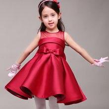 Фирменные новые платья для девочек с цветами атласное праздничное