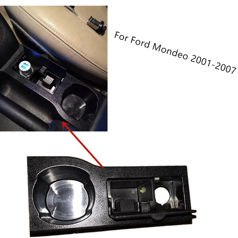 BTAP New Cup Holder Car Ashtray For Ford Mondeo III MK3 2001 2002 2003 2004 2005 2006 2007 OEM 1S7XF04788AF 1S7X-F04788AF