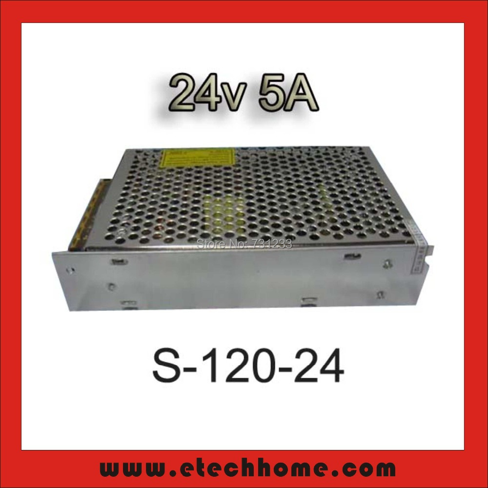 120W 24VDC 5A Single Output Switching Power Supply of Stepper motor NEMA 8 11 14 15 17 Frame 20 28 35 39 42mm for CNC Route Kits dc60v 350w 5 9a switching power supply 115v 230v to stepper motor diy cnc router