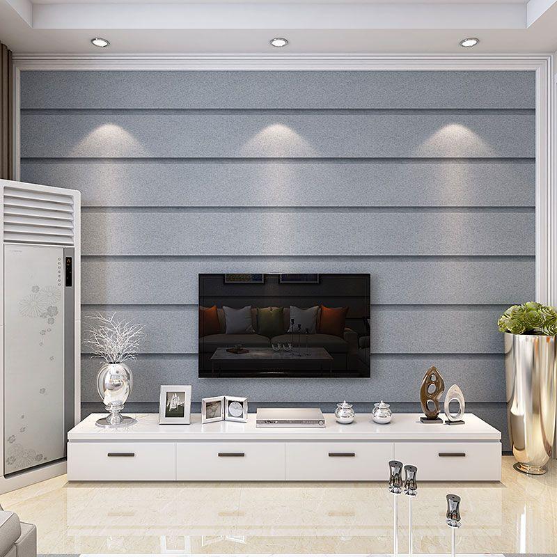 PAYSOTA Modern Simple Stripe Wallpaper Bedroom 3D tNon-woven Wall Paper Roll