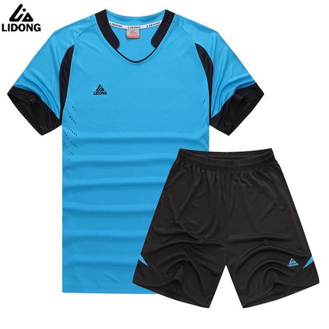 68a281a900e08 LIDONG verano niño fútbol entrenamiento traje niños fútbol Jersey conjunto  juvenil niños fútbol juegos De fútbol