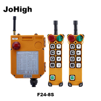 JoHigh Industrial Wireless Remote Controller 380V /220V/36V/24V/48V F24 8S Single Speed 2 transmitters + 1 receiver