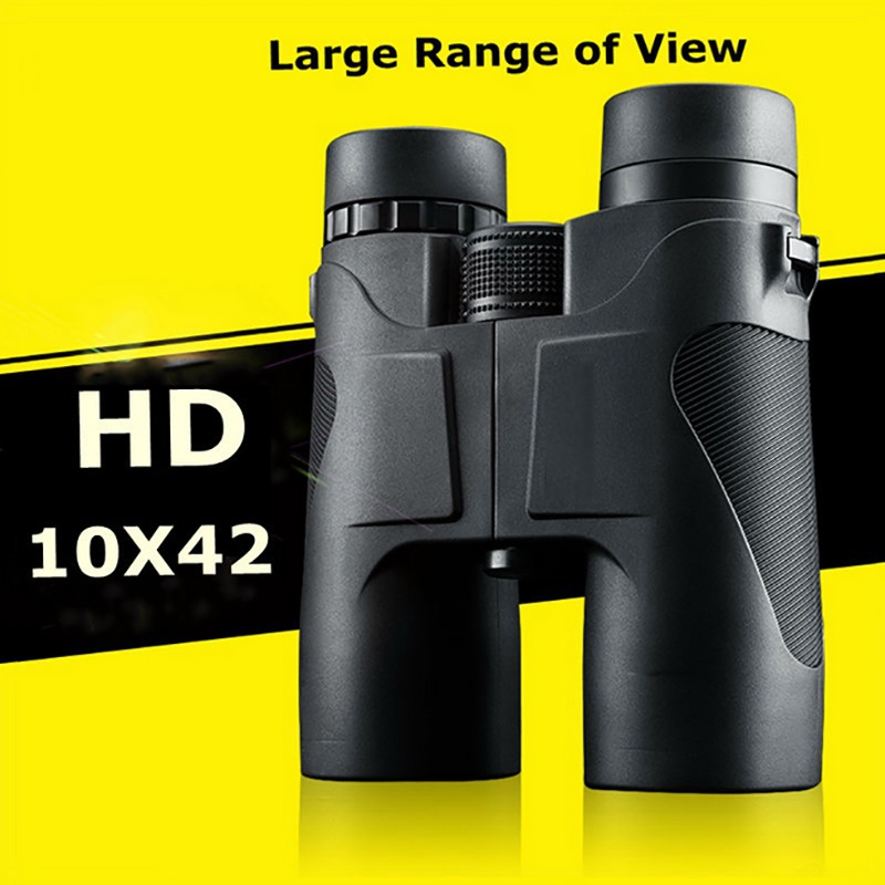 HD Waterproof 10x42 Portable Compact Binoculars Military Standard for Hunting and Outdoor Sports