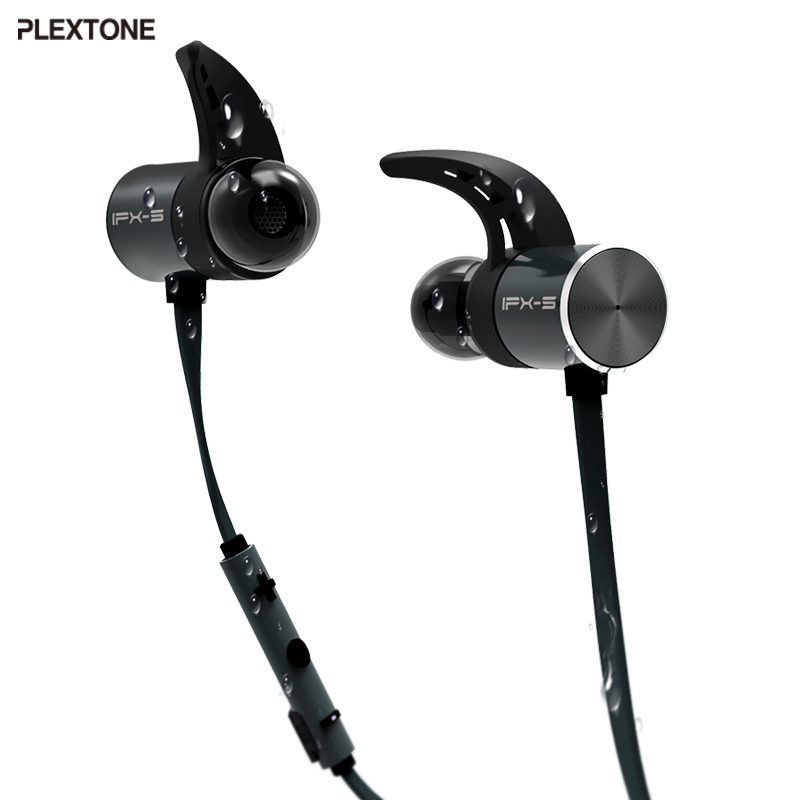 Plextone BX343 Wireless Headphone <font><b>Bluetooth</b></font> IPX5 Waterproof Earbuds Magnetic Headset Earphones With Microphone For Phone Sport