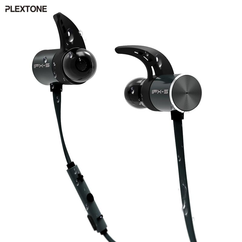 Plextone BX343 Wireless font b Headphone b font Bluetooth IPX5 Waterproof Earbuds Magnetic Headset Earphones With