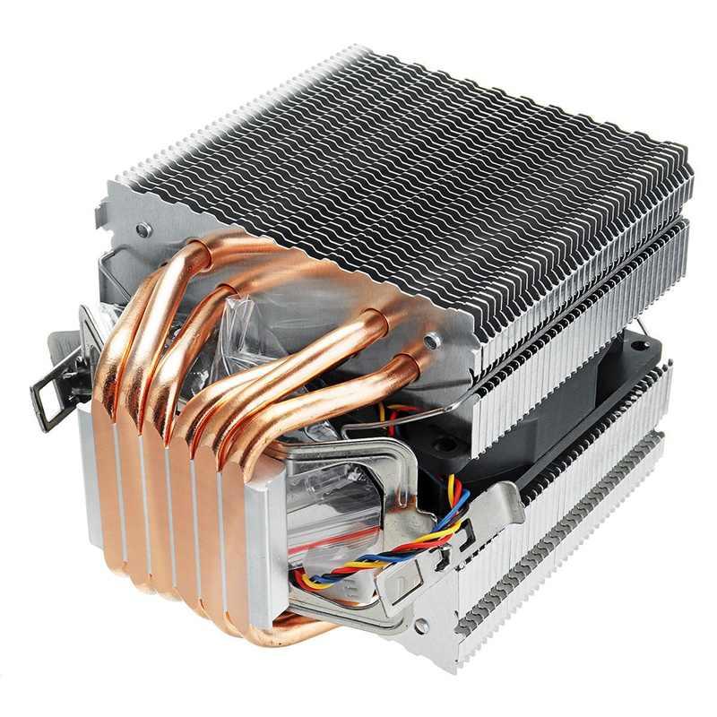 6 أنابيب الكمبيوتر مروحة تبريد لوحدة المعالجة الرئيسية غرفة تبريد ل Lag1156/1155/1150/775 إنتل Amd