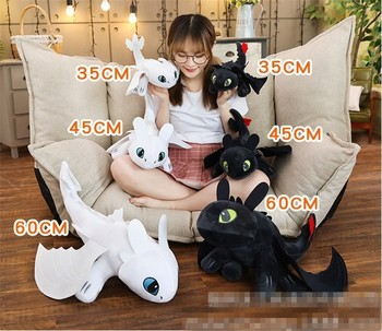 25/35/45/60cm How To Train Your Dragon 3 Toothless Anime Figure Night Fury Light Fury Toys Dragon Plush Doll Toys For Children 1