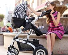 High Quality Baby Stroller High Landscape Can Sit Lying Prams for newborns Shockproof Baby Car Portable Folding Stroller C01