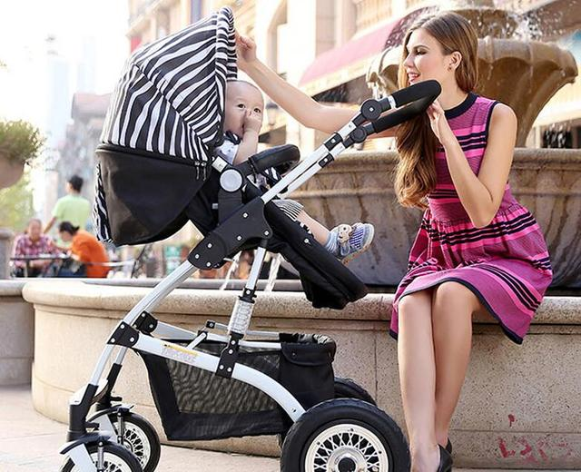 High Quality Baby Stroller High Landscape Can Sit Lying Prams for newborns Shockproof Baby Car Portable Folding Stroller C01
