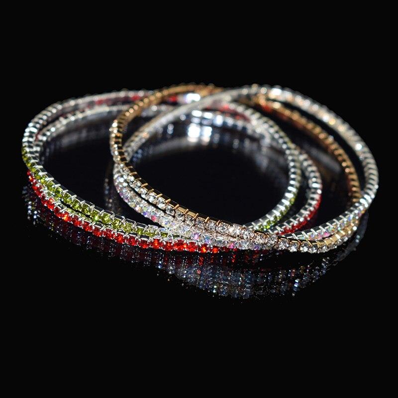 Fashion Jewelry Charme Élégant Bracelet Rigide Pour Femme Luxe Cristal Bracelets
