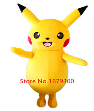 2016 Top Grade Deluxe Pikachu Mascot Costume Cartoon Character Costumes Mascot Costume Fancy Dress Party Suit