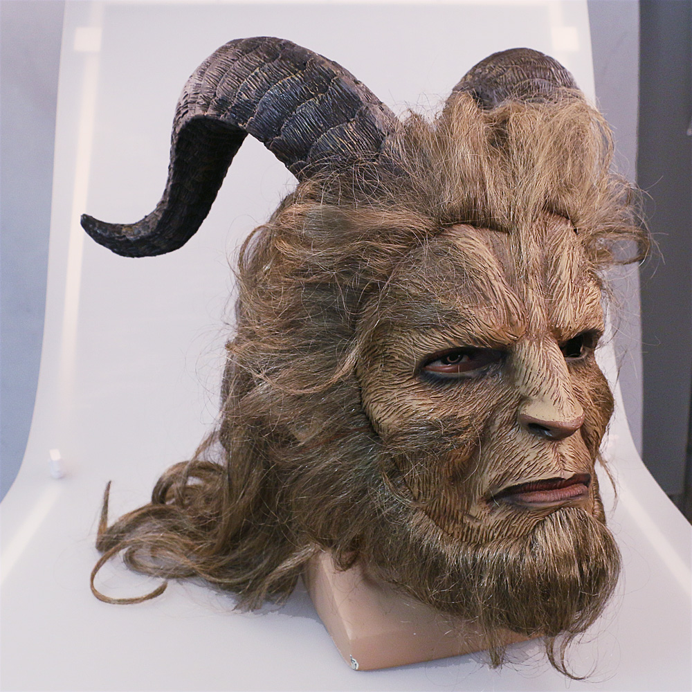 2017 Hot Movie Beauty and the Beast Adam Prince Mask Cosplay Horror Mask Latex Lion Helmet Halloween Party (5)