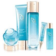 Bovey 5 in 1 skin care set Hyaluronic acid HA moisturizing gift box hydrating cleanser face toner lotion cream eye cream WS5529