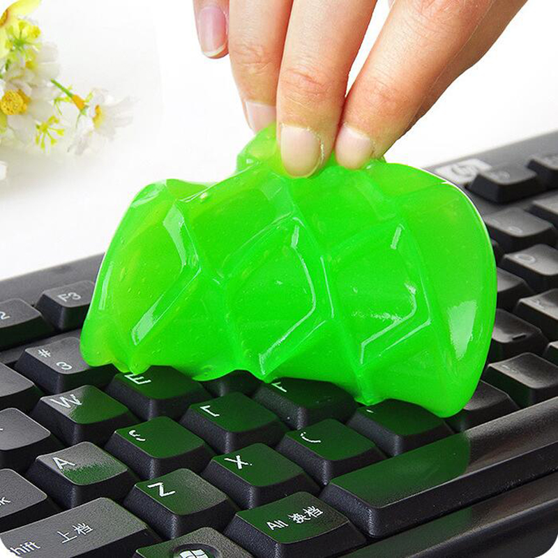 2017 Super Dust Cleaning Glue Toy Slimy Gel Wiper For Keyboard Laptop Car Cleaning Sponge Car Accessories magic slime alluminum alloy magic folding table bronze color magic tricks illusions stage mentalism necessity for magician accessories