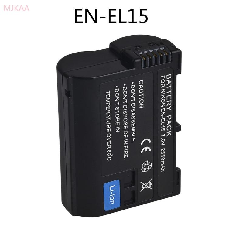 MJKAA 1 шт. 7,0 V 2550 мА/ч, декодировать Камера Батарея ENEL15 EN-EL15 для Nikon V1 D500 D750 D7100 D7000 D800E D800 D600 D600E D61