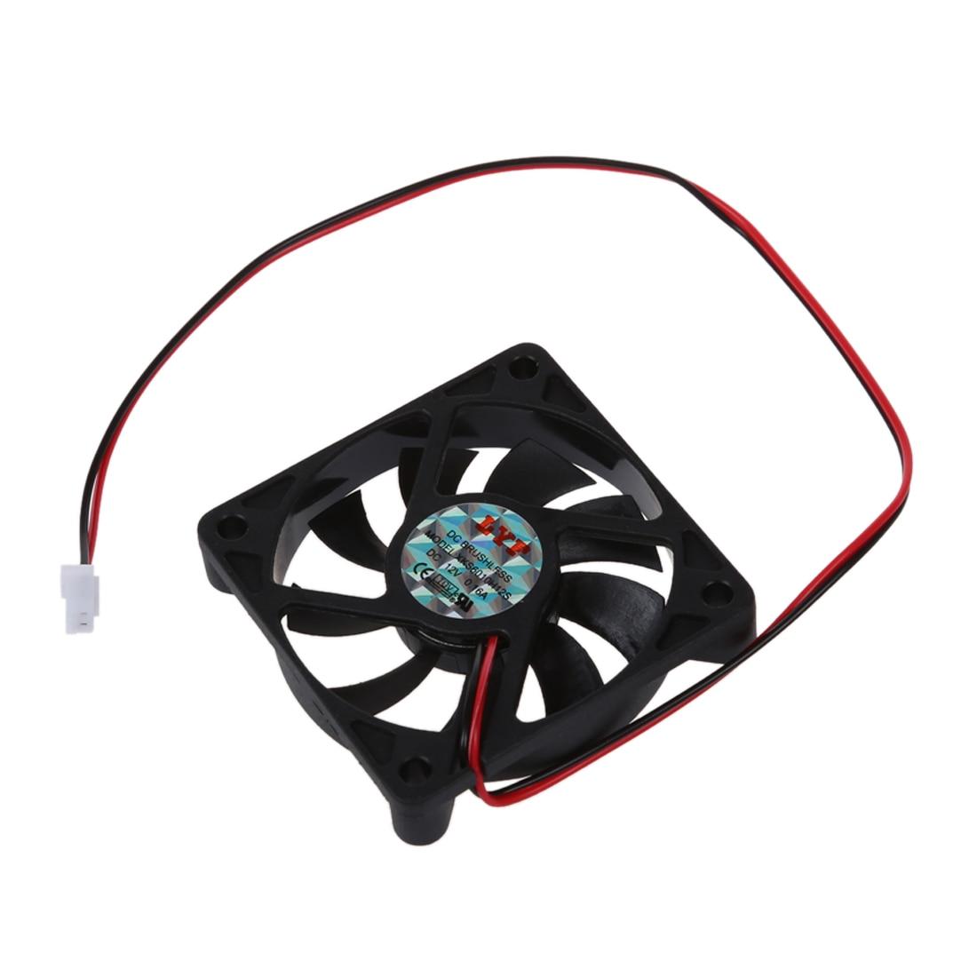 Desktop PC Case DC 12V 0.16A 60mm 2 Pin Cooler Cooling Fan