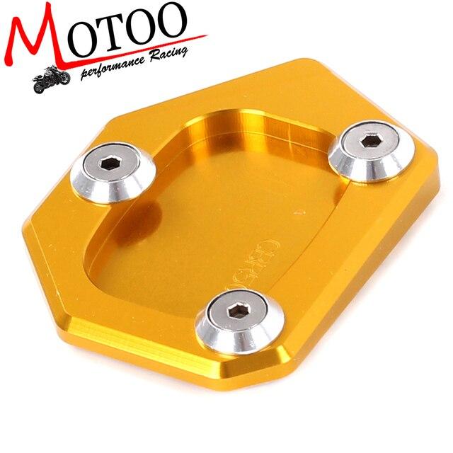Extension de béquille de plaque d'élargissement de support latéral de moto en aluminium de CNC pour HONDA NC700S/X/D INTEGRA CBR500R CB500F/X