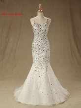 Sexy Mermaid Evening Dress 2017 Sleeveless Beaded Rhinestones Women Formal Gown For Prom Wedding Party Dresses Robe De Soiree