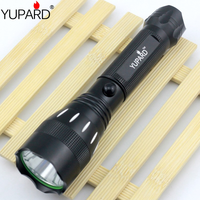 YUPARD Q5 LED Flashlight Torch 18650 rechargeable battery 500 Lumen 3 Mode lamp fishing hunting outdoor sport camping lantern crazyfire led flashlight 3t6 3800lm cree xml t6 hunting torch 5 mode 2 18650 4200mah rechargeable battery dual battery charger