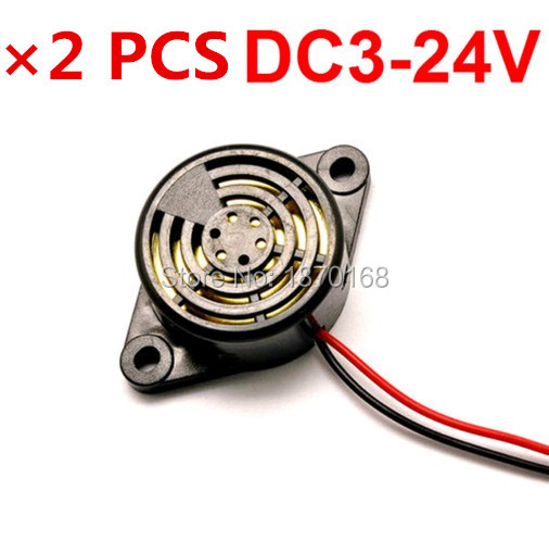 2 Pcs/Lots Black Piezo Electronic Alarm Discontinuity Sound Buzzer Beeper DC3-24V AC220V ...