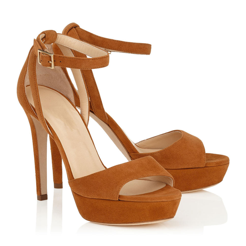 2016 Women High Heel Platform Ankle Strap font b Sandals b font Ladies Sexy Two Pieces