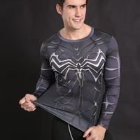 Spiderman T Shirts Men 3D Printed T Shirts Compression Fitness Camisetas 2017 Black Panther Long Sleeve