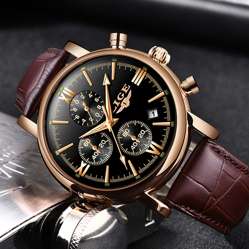2019 LIGE Business Leather Fashion Waterproof Quartz Watch For Mens Watches Top Brand Luxury Male Date 2019 LIGE Business Leather Fashion Waterproof Quartz Watch For Mens Watches Top Brand Luxury Male Date Clock Relogio Masculino