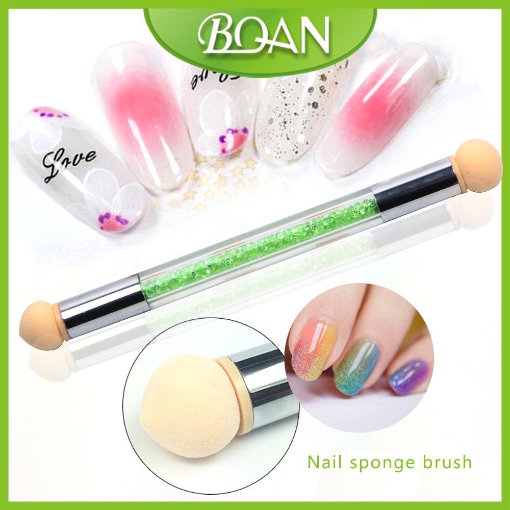 Bqan 10pcs Uv Gel Painting Nail Gradient Shading Pen Nail Art Sponge