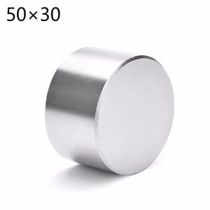 Image 1 - 1 adet N52 Dia 50x30mm sıcak yuvarlak mıknatıs Güçlü Nadir Toprak Neodimyum Manyetik toptan 50*30 50*30mm 50mm x 30mm Ücretsiz kargo