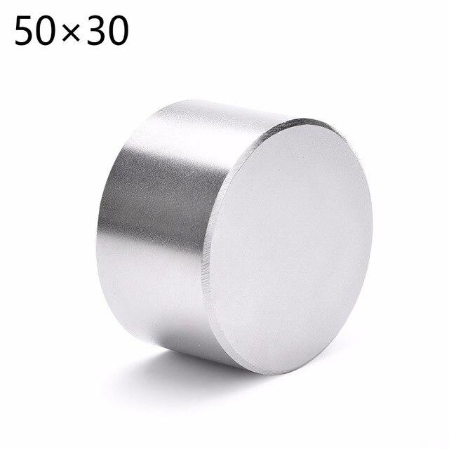 1 adet N52 Dia 50x30mm sıcak yuvarlak mıknatıs Güçlü Nadir Toprak Neodimyum Manyetik toptan 50*30 50*30mm 50mm x 30mm Ücretsiz kargo