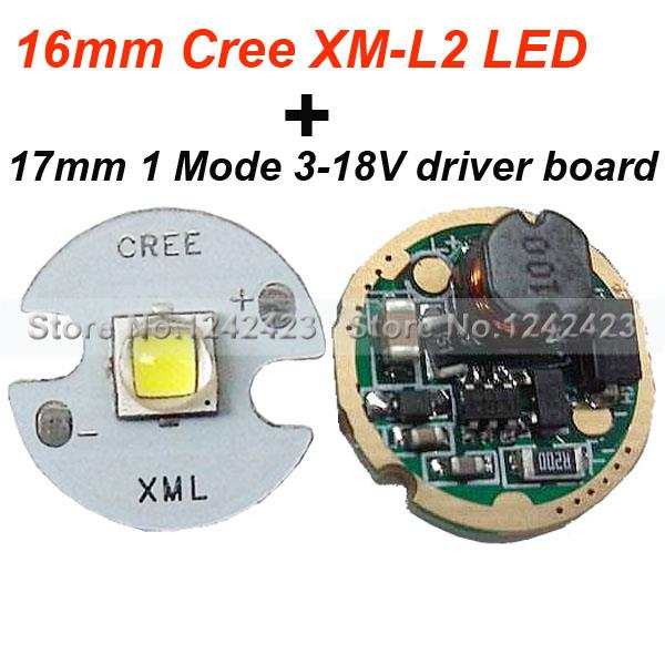 popular circuit mode buy cheap circuit mode lots from 16mm cree xm l2 u2 led star 1a cool white 17mm flashlight circuit board