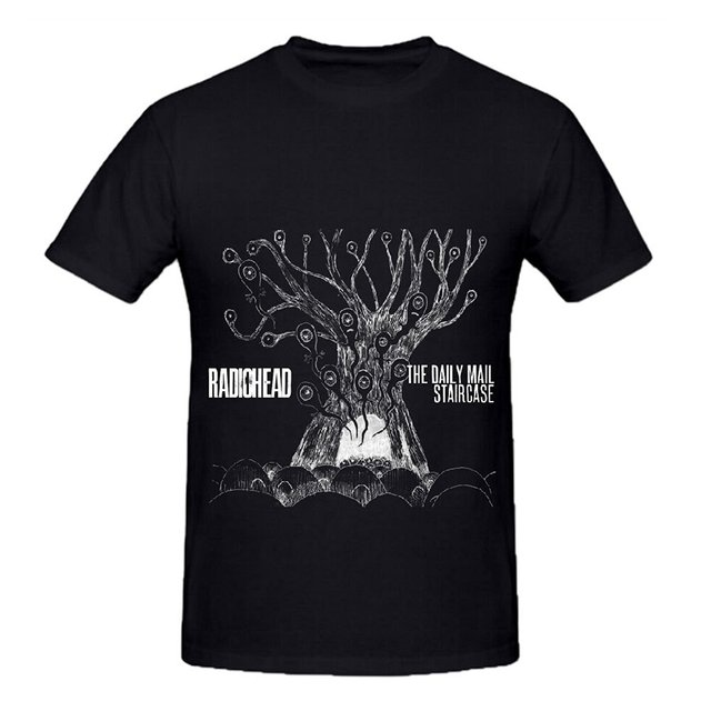 Radiohead The Daily Mail Staircase Men Shirts Round Neck Design