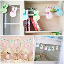 Cartoon Rabbit Ribbons Rope Party Birthday Decorations Baby Kids Bedroom Decor