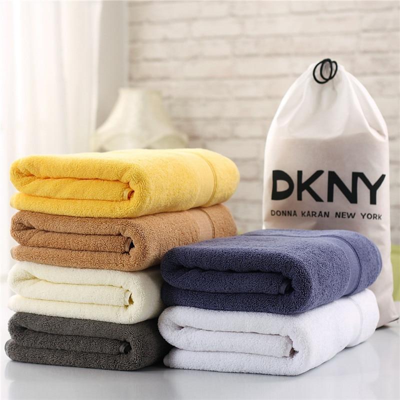 coppia 70x140 di spessore lusso cotone egiziano asciugamani da bagno solido spa bagno hotel beach playa asciugamano adulti tov