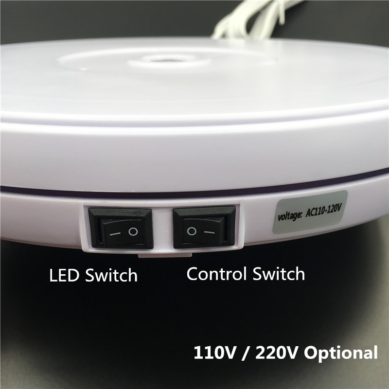 Image 3 - 10 25cm Led Light 360 Degree Electric Rotating Turntable for  Photography, Max Load 10kg 220V  110VPhoto Studio Accessories   -