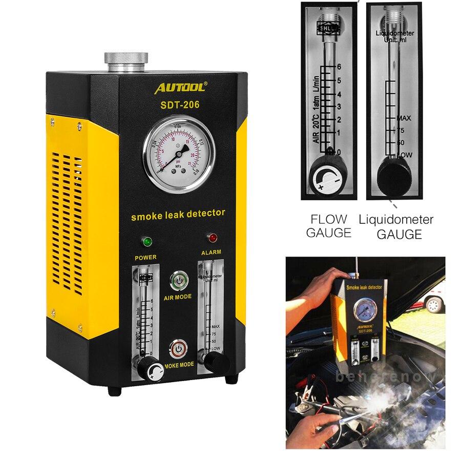 Diagnostic-Tester EVAP Smoke-Machine Automotive-Leak-Detector Autool Fuel-Pipe SDT206
